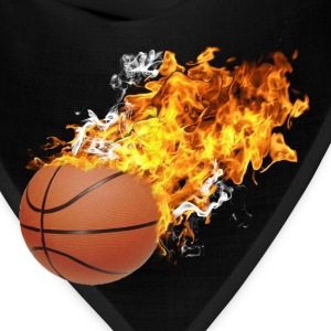 Flaming Basketball Long Sleeve Shirts - Bandana