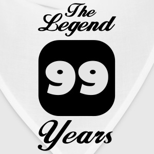 99 ninety-ninth birthday: The Legend 99 Years.  Women's T-Shirts - Bandana