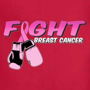Fight Breast Cancer Pink Boxing Gloves T-Shirts - Adjustable Apron