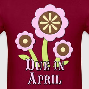 Due in April Expectant Mother Hoodies - Men's T-Shirt