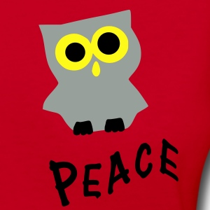 Peace txt owl bird vector art Unisex Fleece Zip Hoodie by American Apparel - Women's V-Neck T-Shirt