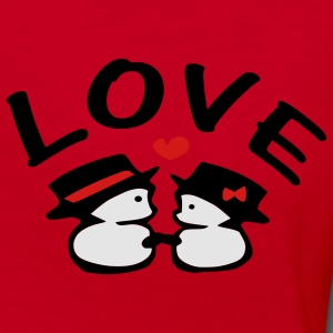 Love txt snowman vector art Unisex Fleece Zip Hoodie by American Apparel - Women's V-Neck T-Shirt