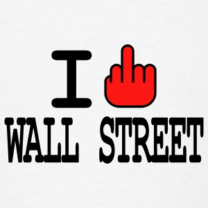 i f**k wall street Buttons - Men's T-Shirt