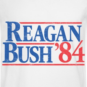 Reagan Bush '84 Vintage T-Shirt - Men's Long Sleeve T-Shirt