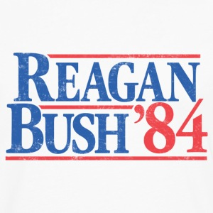 Reagan Bush '84 Vintage T-Shirt - Men's Premium Long Sleeve T-Shirt