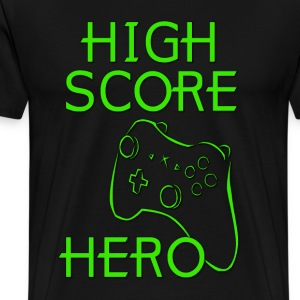 High Score Hero XBox Hoodies - Men's Premium T-Shirt