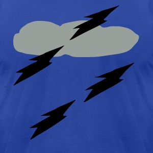 Clouds lightning weather vector art Men's 3XL Hooded Sweatshirt - Men's T-Shirt by American Apparel