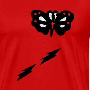 Butterfly lightning vector art Men's 3XL Hooded Sweatshirt - Men's Premium T-Shirt