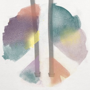 Watercolor Peace Women's T-Shirts - Contrast Hoodie