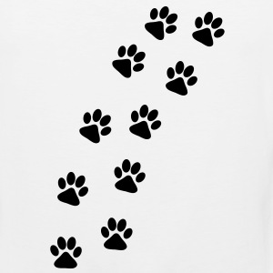 Dog Paw Track T-Shirts - Men's Premium Tank