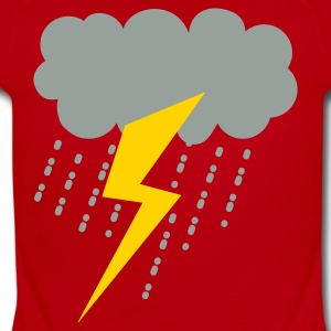 raincloud lightning strike rain storm Kids' Shirts - Short Sleeve Baby Bodysuit