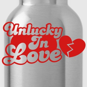 Unlucky in Love with a broken heart Hoodies - Water Bottle