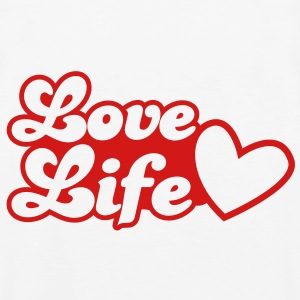 LOVE LIfe heart lovely Hoodies - Men's Premium Tank