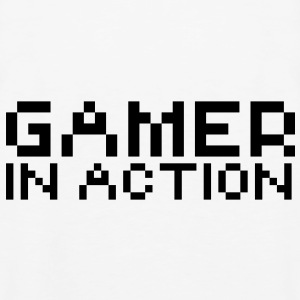 Computer humor- in Pixel GAMER IN ACTION Hoodies - Men's Premium Tank