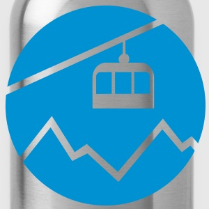 Cable car mountains T-Shirts - Water Bottle