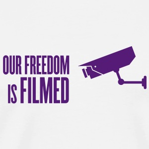 our freedom is filmed Buttons - Men's Premium T-Shirt