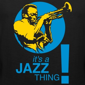 Jazz thing flex T-Shirts - Men's Premium Tank