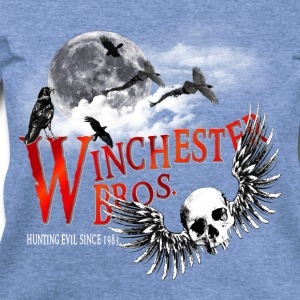 Winchester Bros Hunting Evil Since 1983 Moon T-Shirts - Women's Wideneck Sweatshirt