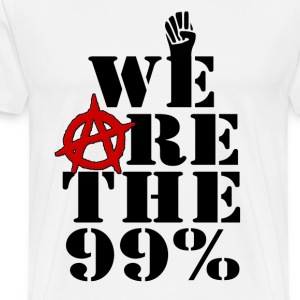We Are The 99% Occupy Wall Street Hoodies - Men's Premium T-Shirt