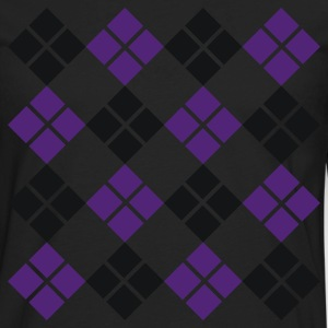 Black Argyle Men - Men's Premium Long Sleeve T-Shirt