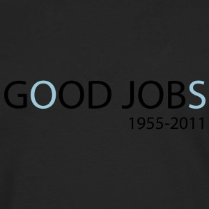 God Job vs Good Jobs - Steve Jobs tribute Hoodies - Men's Premium Long Sleeve T-Shirt