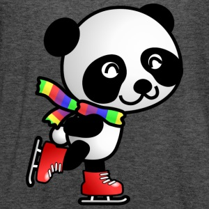Cute Kawaii Skating Panda with Rainbow Scarf T-Shirt - Women's Flowy Tank Top by Bella
