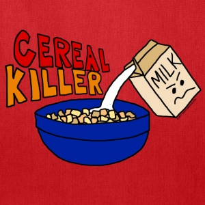 Funny Cereal Killer Cartoon Unisex T-Shirt - Tote Bag