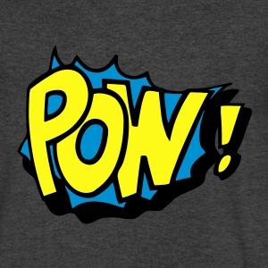 Pow! Long Sleeve Shirts - Men's V-Neck T-Shirt by Canvas
