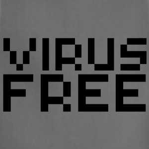 Computer humor- in Pixel VIRUS FREE T-Shirts - Adjustable Apron