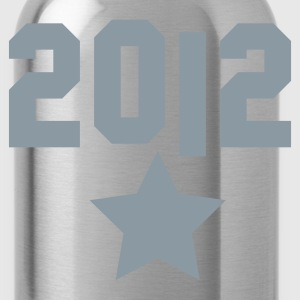 2012 and a silver star T-Shirts - Water Bottle