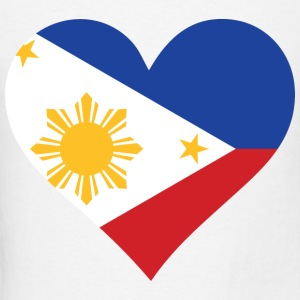 Heart Philippines (dd)++ Hoodies - Men's T-Shirt