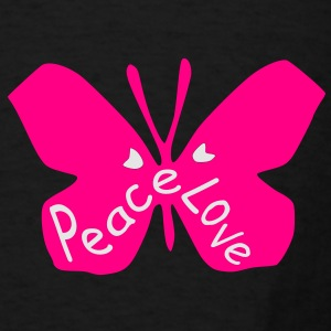 Love peace txt cool butterfly insect vector grpahic art Duffel Bag - Men's T-Shirt