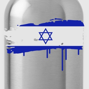 Israeli flag painted with a brush stroke Hoodies - Water Bottle