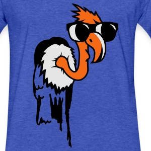 Vulture with a cool black sunglasses Sweatshirts - Fitted Cotton/Poly T-Shirt by Next Level
