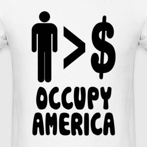 People Over Profits Occupy America Hoodies - Men's T-Shirt