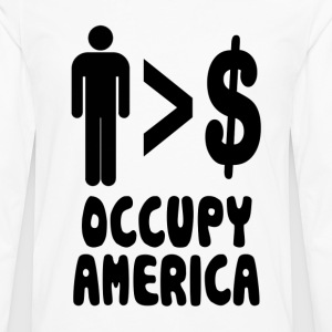 People Over Profits Occupy America Hoodies - Men's Premium Long Sleeve T-Shirt
