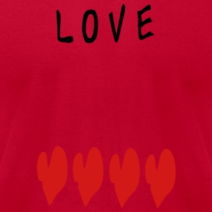LOVE TXT hearts pattern vector graphic line art Baby Short Sleeve One Piece - Men's T-Shirt by American Apparel