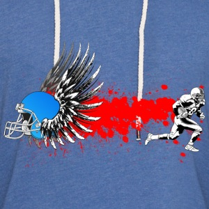 FootBall grunge wings T-Shirts - Unisex Lightweight Terry Hoodie
