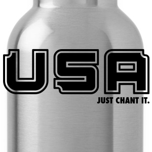 USA - Just Chant It. T-Shirts - Water Bottle