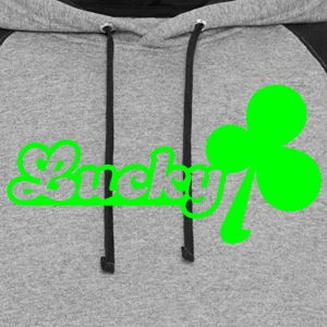 lucky cute clover alone Women's T-Shirts - Colorblock Hoodie
