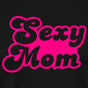 sexy mom mommy in hot pink Long Sleeve Shirts - Men's Premium T-Shirt
