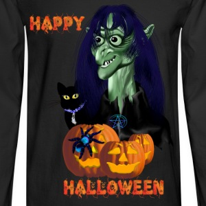 Green Witch-Happy Halloween - Men's Long Sleeve T-Shirt