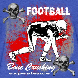 FootBall Bone Crushing experience Sweatshirts - Fitted Cotton/Poly T-Shirt by Next Level