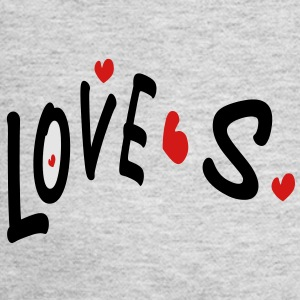 Love S txt hearts vector graphic line art Men's T-Shirt by American Apparel - Women's Long Sleeve Jersey T-Shirt