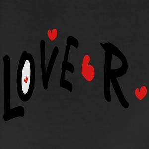 Love R txt hearts vector graphic line art Men's T-Shirt by American Apparel - Leggings