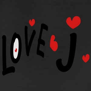 Love J txt hearts vector graphic line art Men's T-Shirt by American Apparel - Leggings