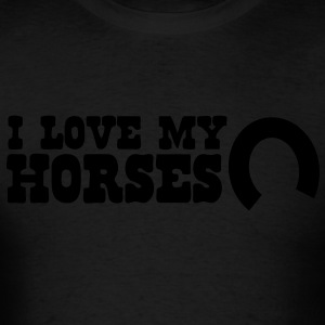 i love my horses Long Sleeve Shirts - Men's T-Shirt
