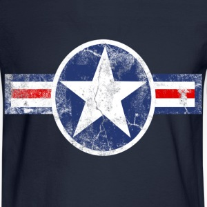 Vintage Patriotic Star, Red White and Blue Logo T-Shirt - Men's Long Sleeve T-Shirt