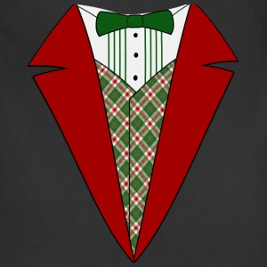 Funny Christmas Tuxedo, Red and Green Tux T-Shirt - Adjustable Apron