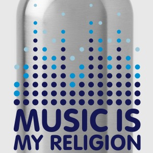 Music Is My Religion Men's T-shirts - Water Bottle